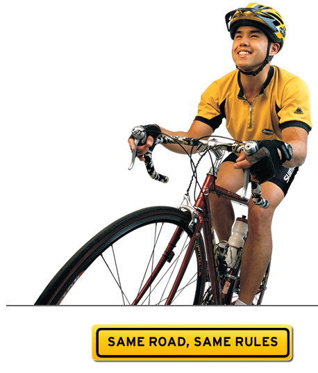 Message for bicyclists: Same Road, Same Rules